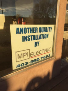 MPI electrical services sign