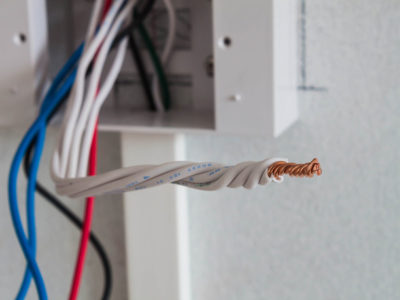 bare electrical wiring