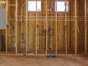 Installed wiring in unfinished basement
