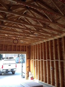 Wiring in an unfinished Garage